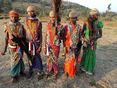 Remo women with beads.